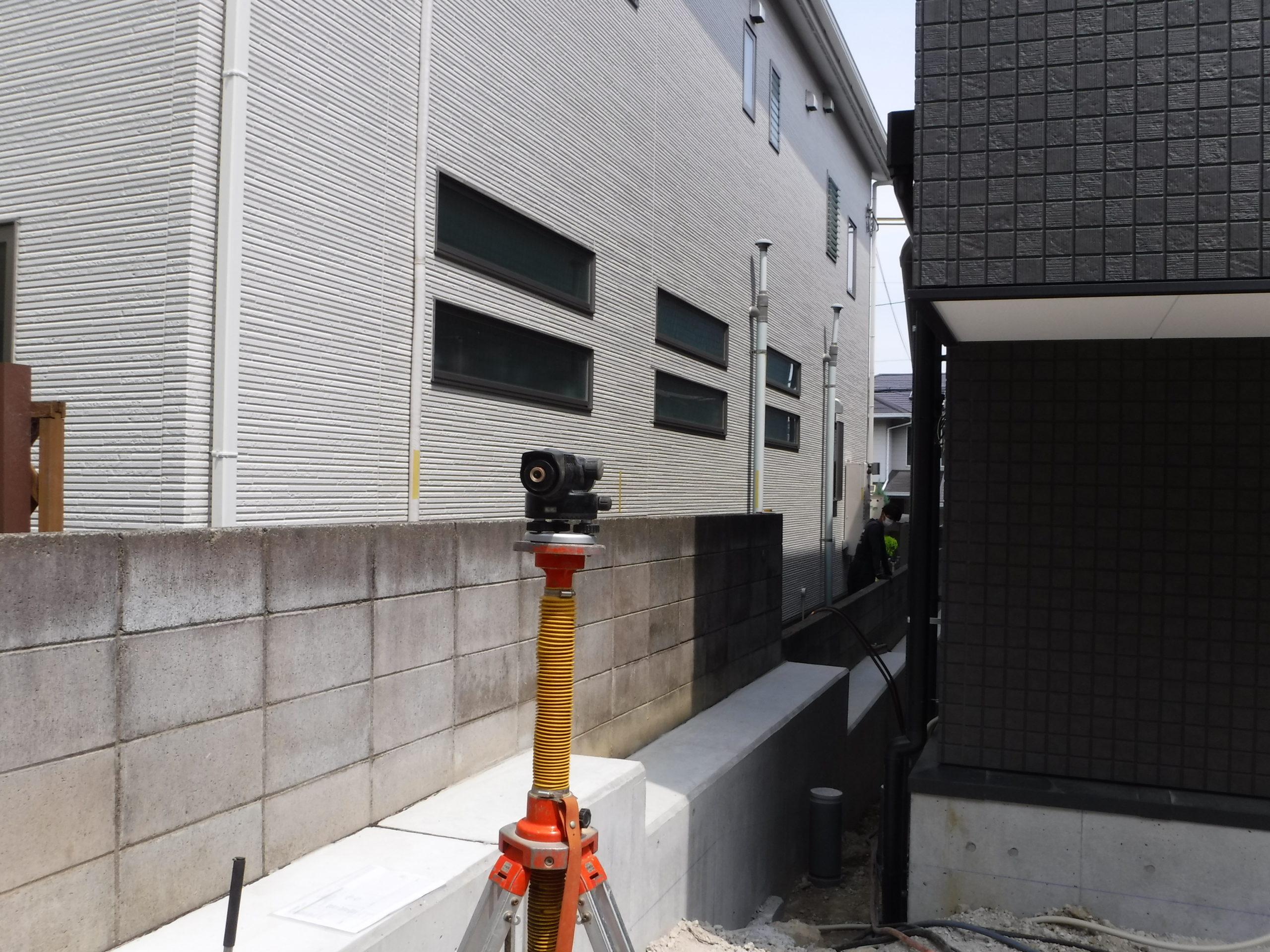 大阪府堺市 擁壁裏地盤改良工事