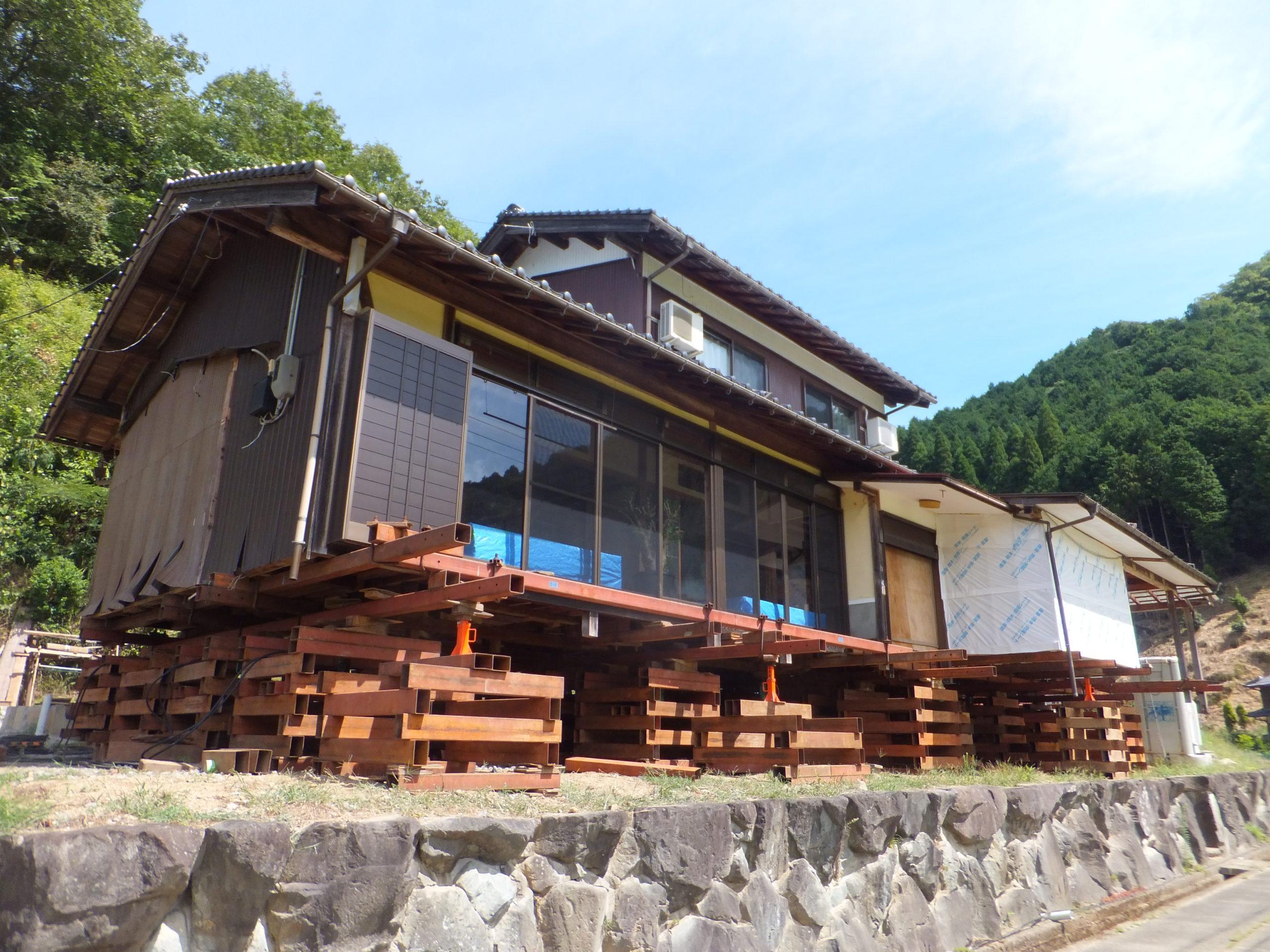 木造住宅 嵩上げ工事