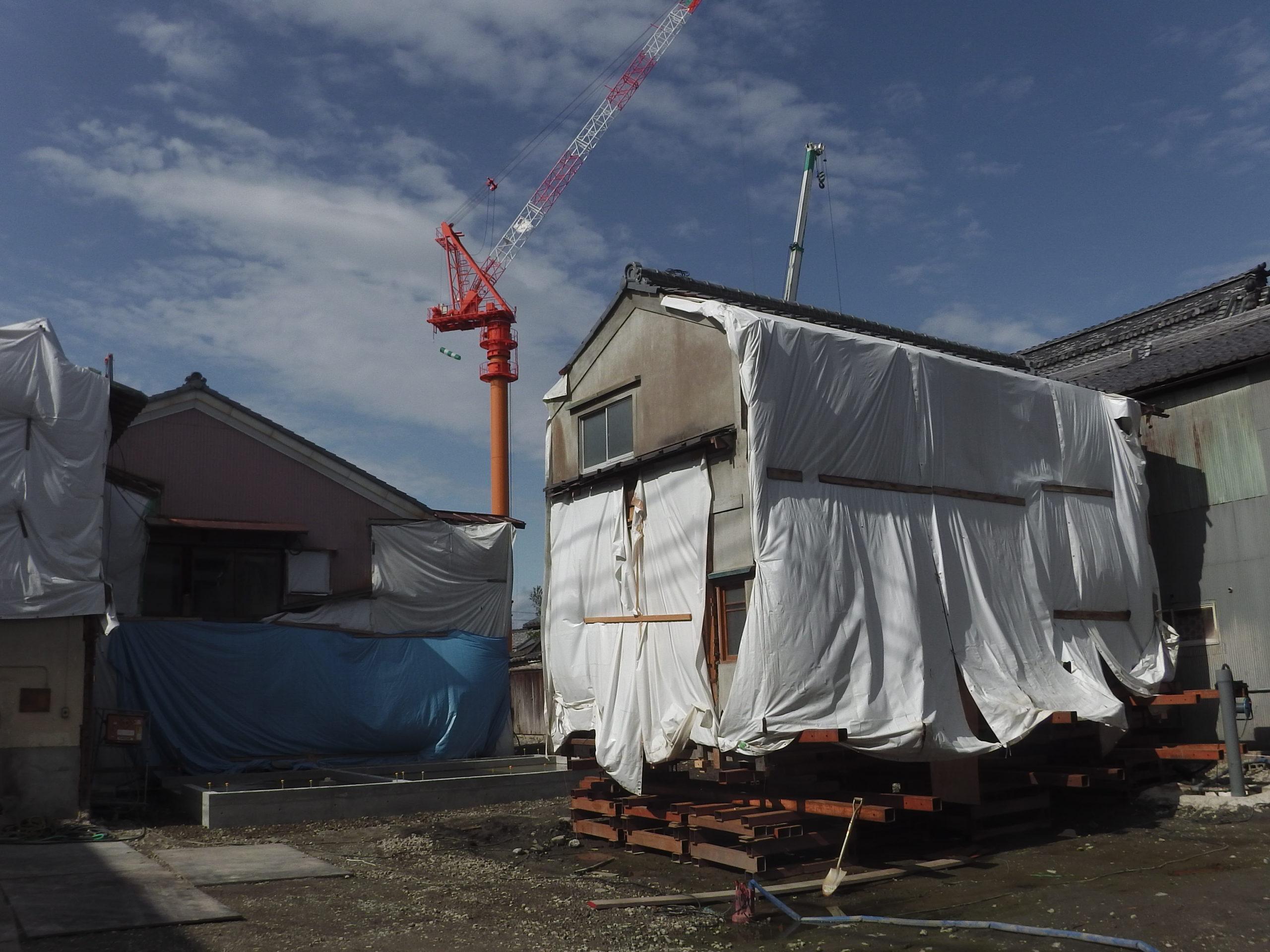 滋賀県長浜市 曳家工事 第二期