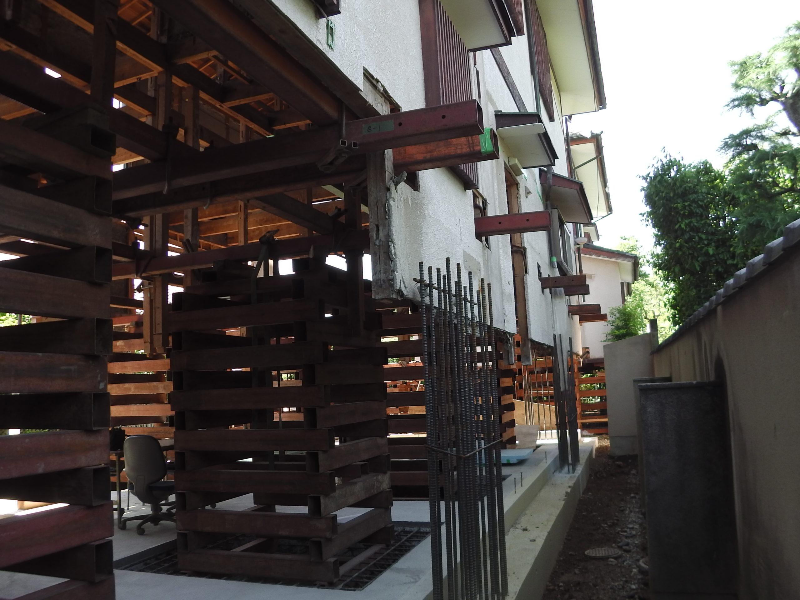京都嵐山 特別な住宅曳家工事